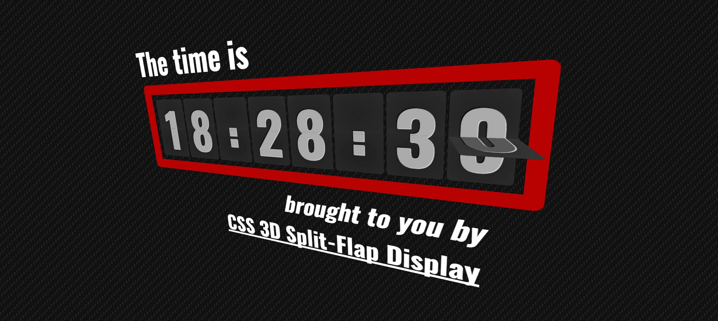 Split-flap display with CSS and JavaScript - Blog - Clicktorelease
